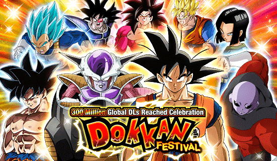 300M Global DLs Reached Celebration Dokkan Festival! | News